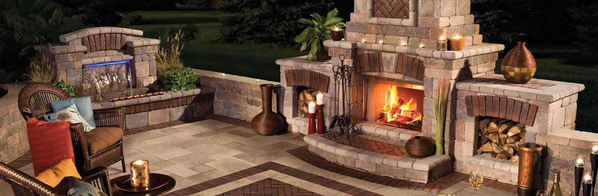 Hardscaping Custom Outdoor Fireplace